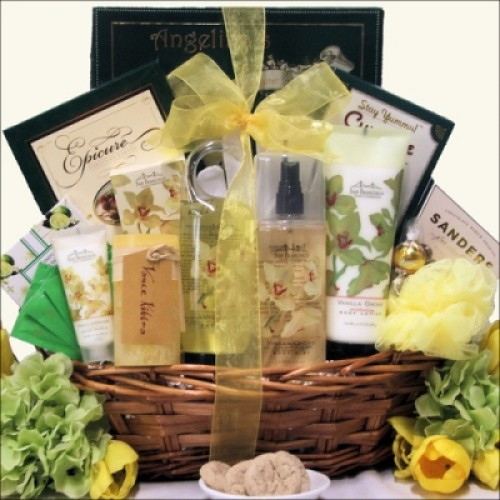 Vanilla Orchid Spa Luxuries: Bath & Body Spa Gift Basket