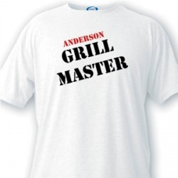 Personalized Men's T Shirt - Grill Master