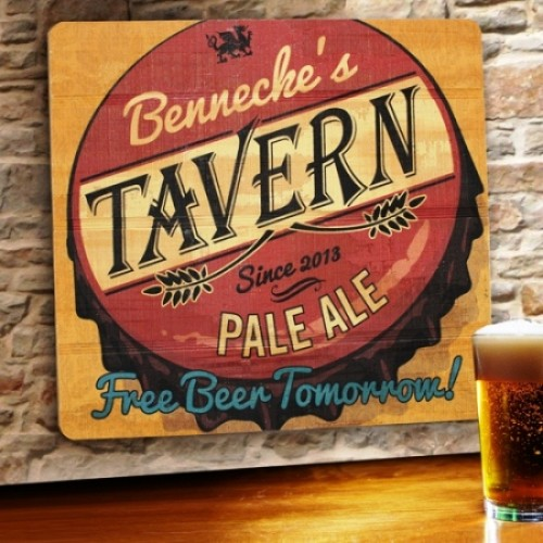 Personalized Wood Tavern & Bar Signs