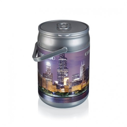 Silver Grey Can Cooler