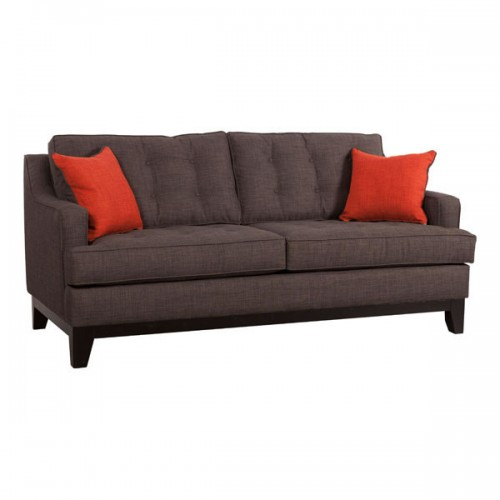 Chicago Sofa Charcoal/burnt Orange